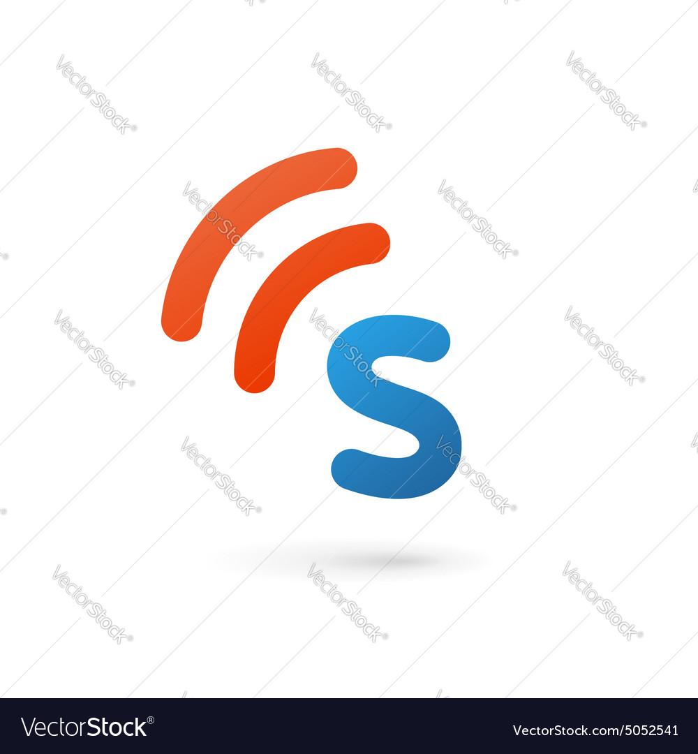 Letter S wireless logo icon design template