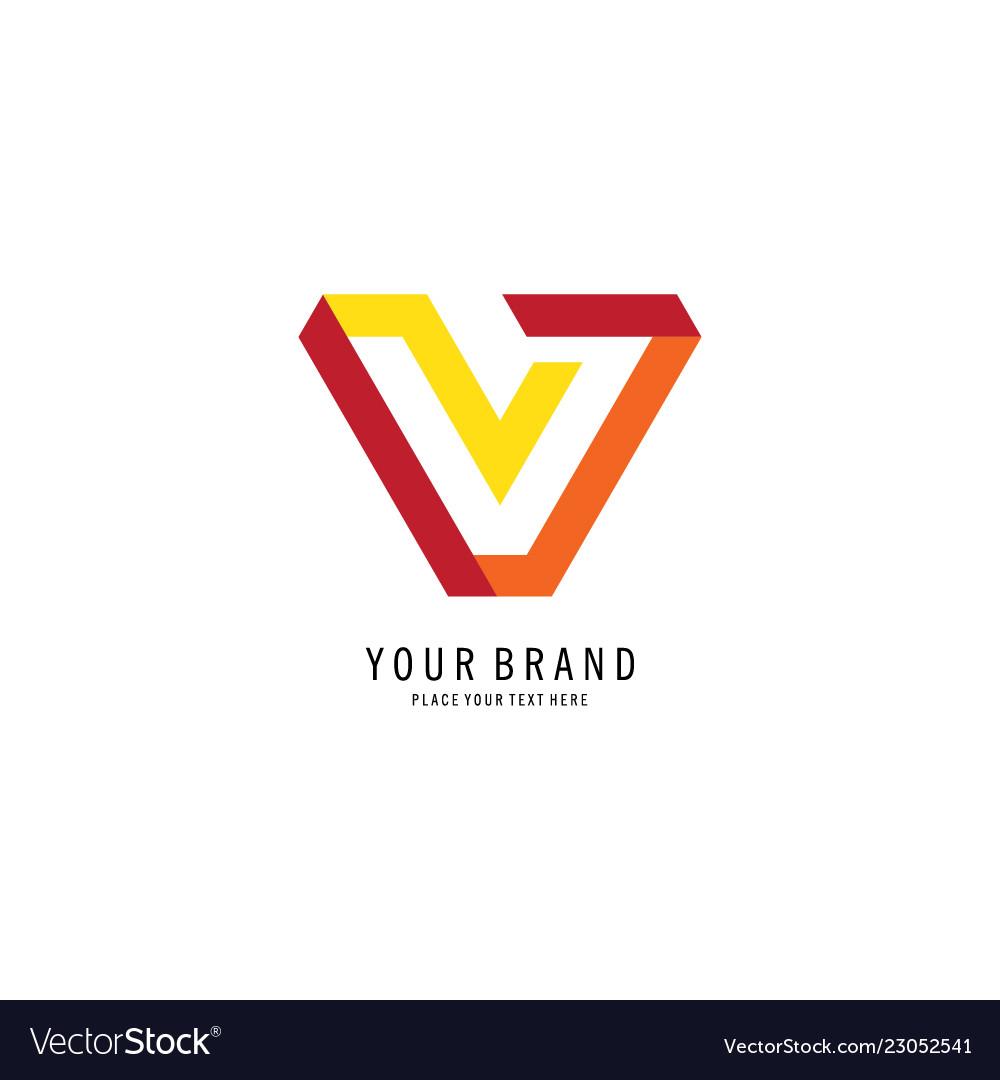 Letter v business logo