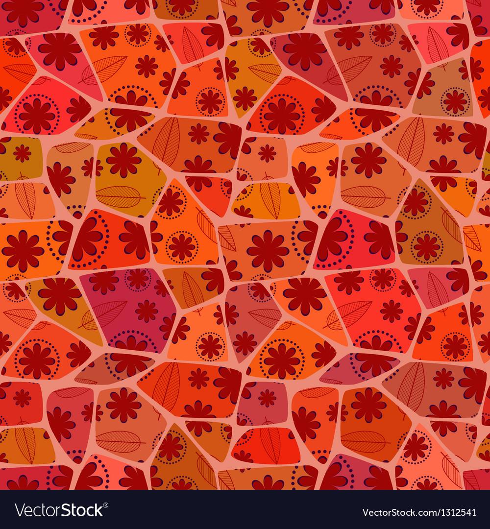 Mosaic Floral Seamless Pattern