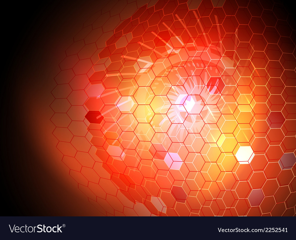 Transparent hexagon abstract background