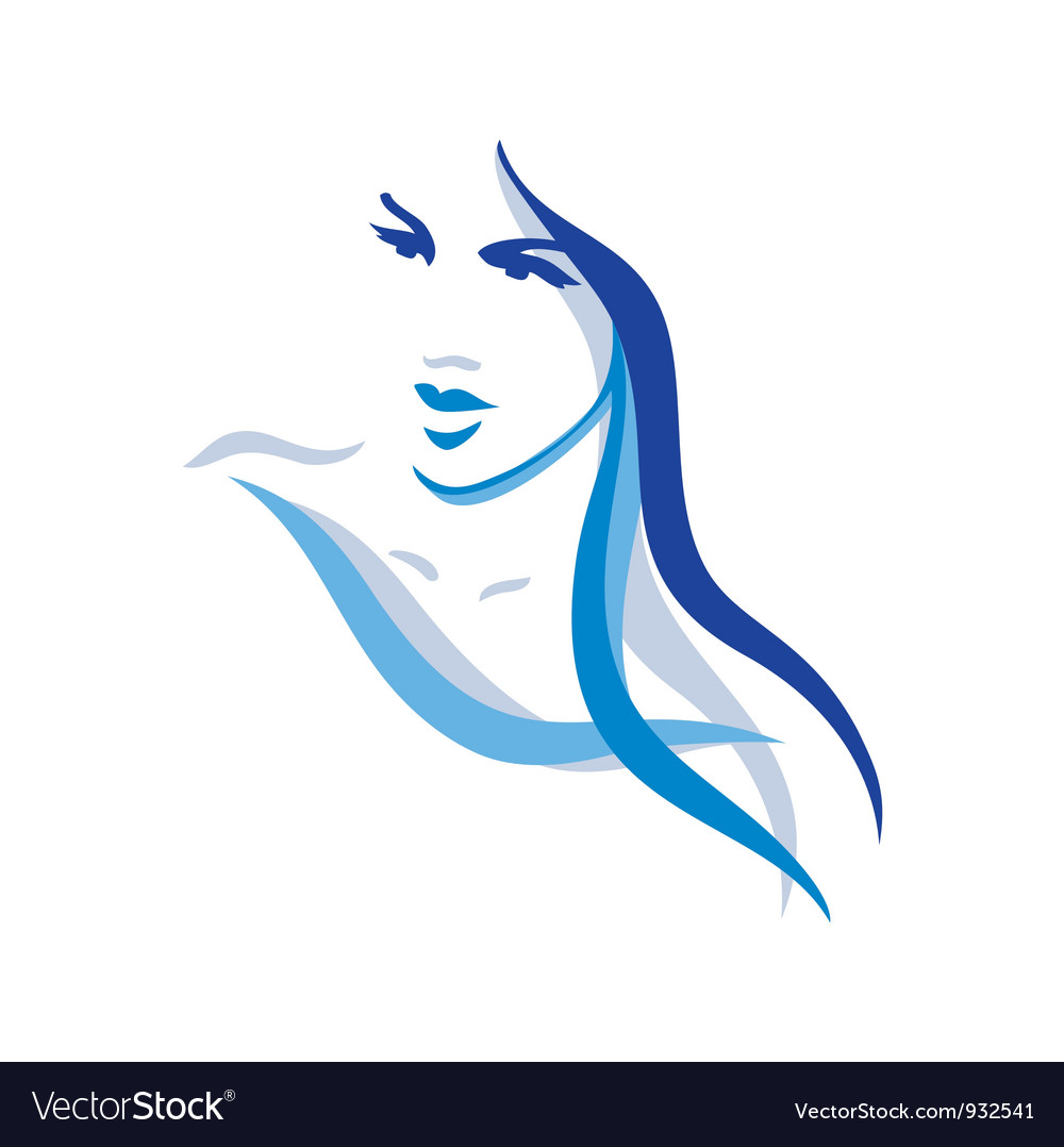 woman with long hair royalty free vector image rh vectorstock com vector haircut vector hair
