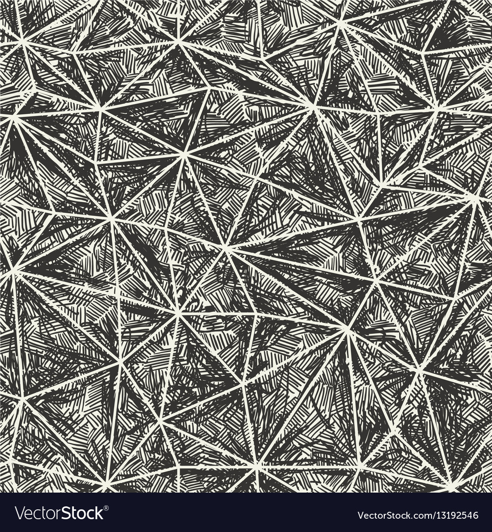 Abstract artistic hand drawn pattern Wire-frame vector image
