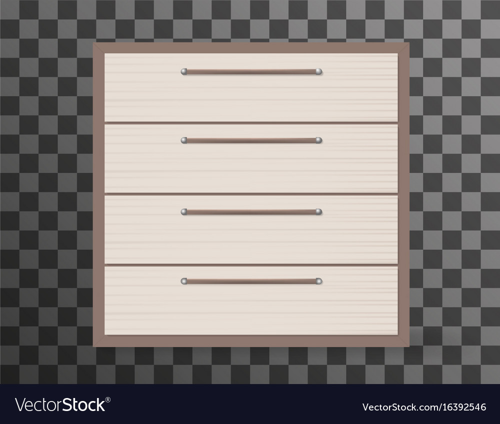 Commode realistic design on transparent background vector image