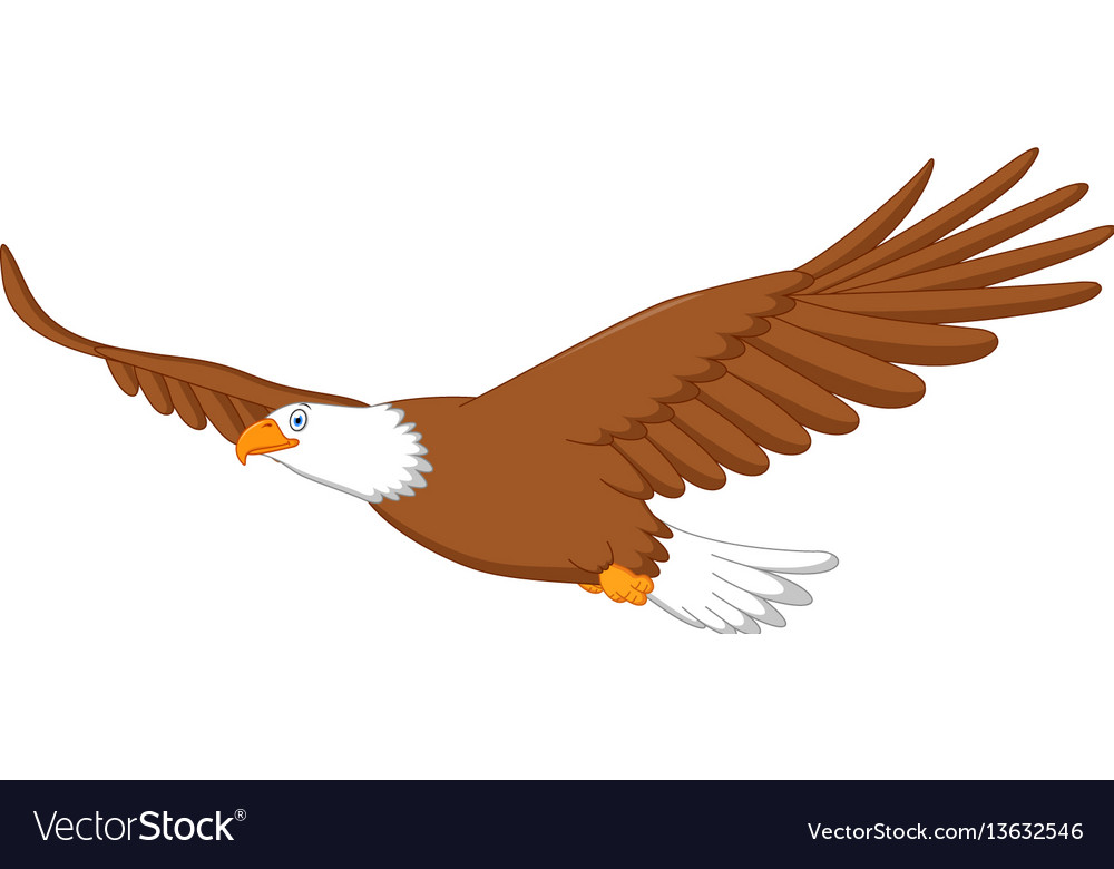 eagle cartoon flying royalty free vector image rh vectorstock com baby eagle cartoon images cartoon eagle pictures