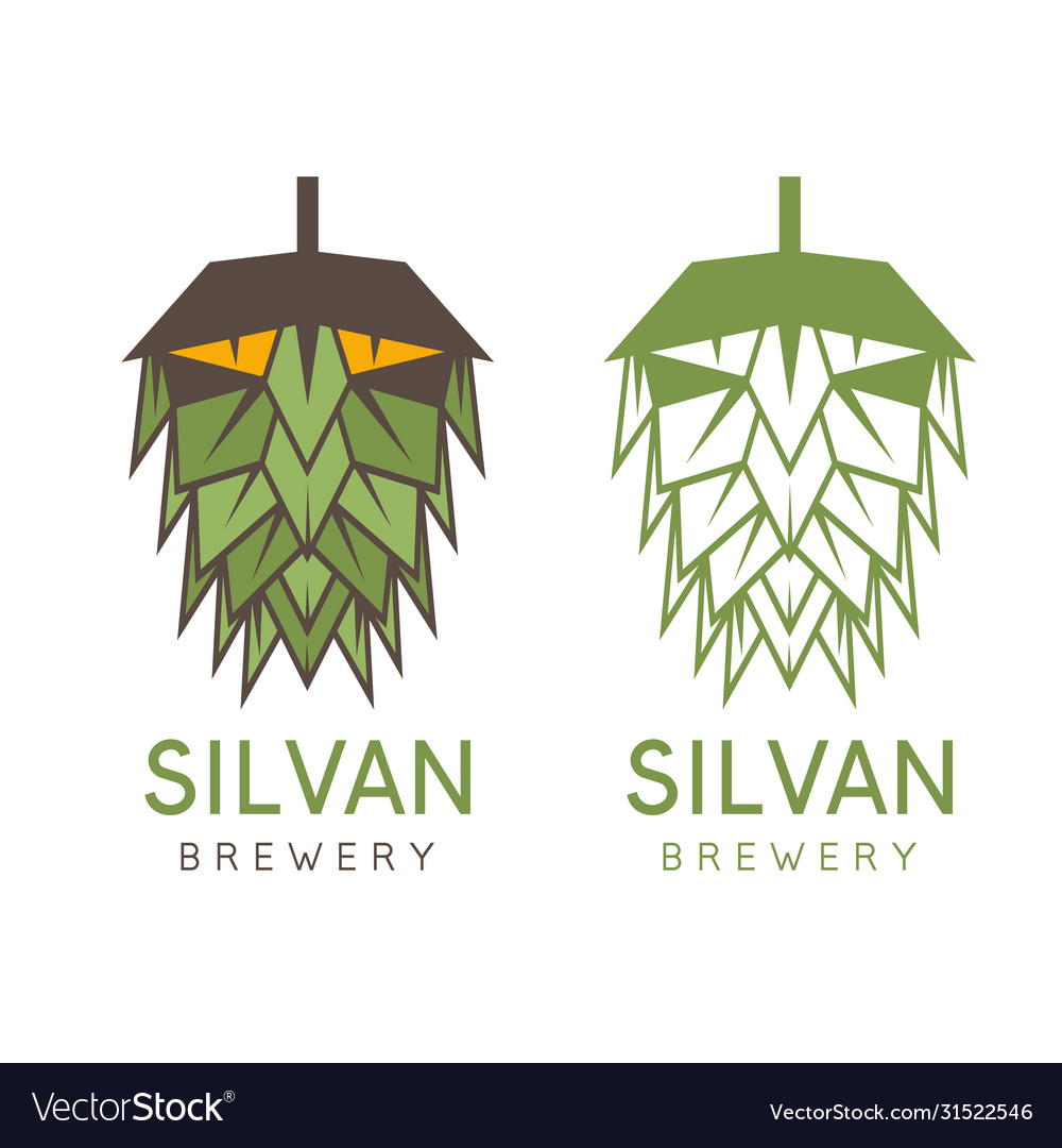 Forest abstract man in a form hop design