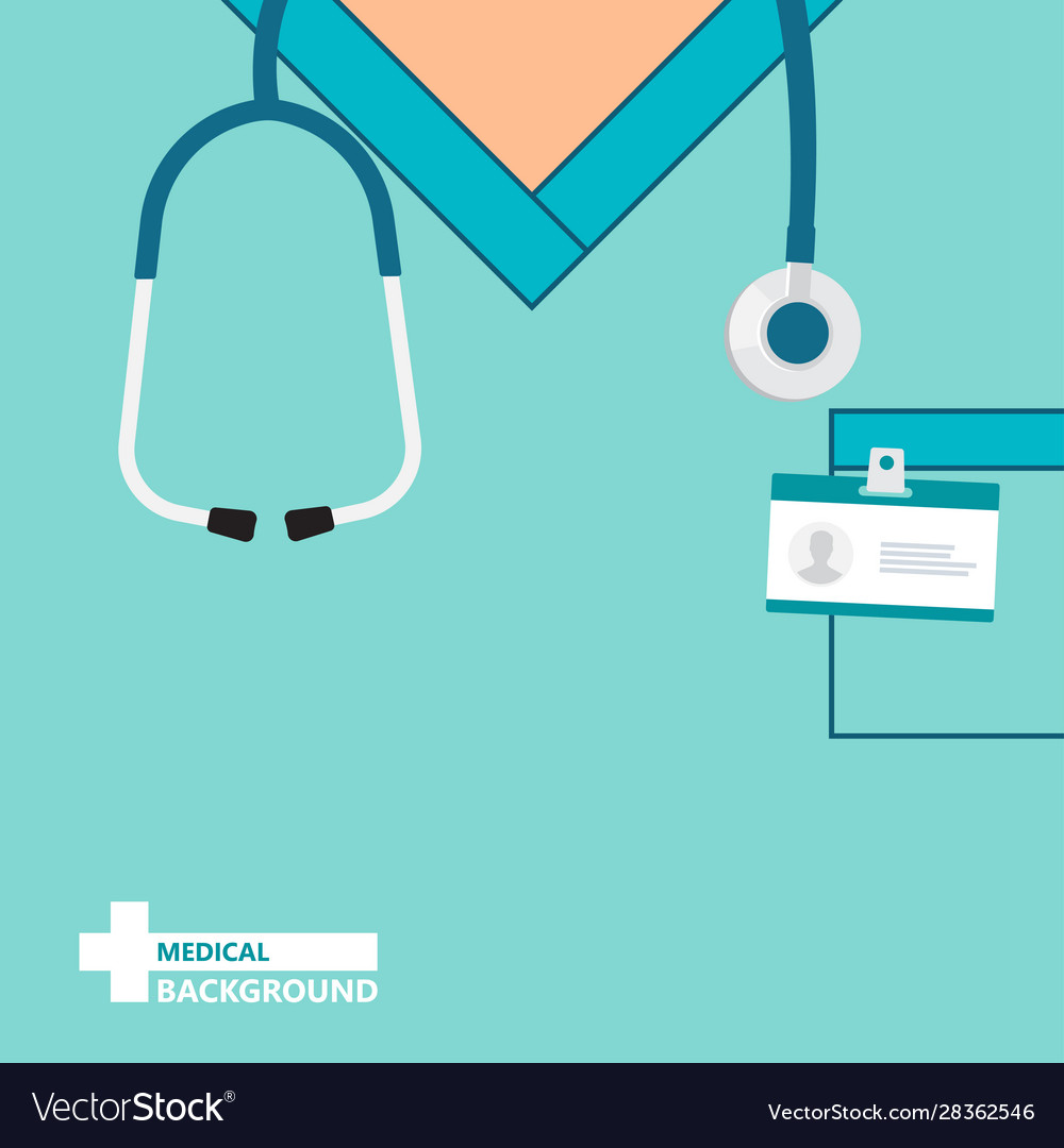 Medical Background With Close Up Doctor Royalty Free Vector