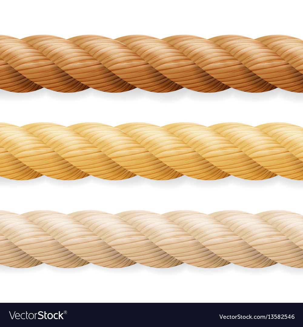 Realistic rope different thickness rope