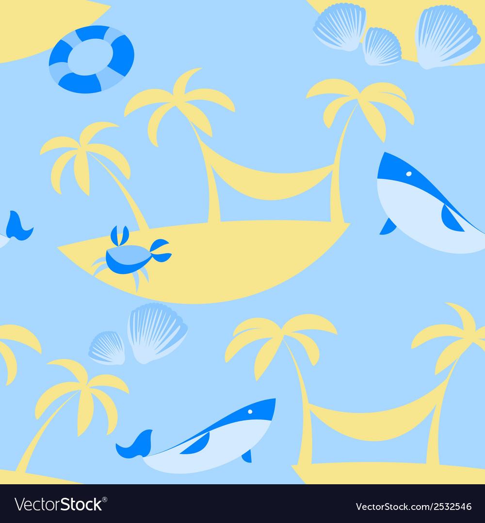Seamless Beach Pattern