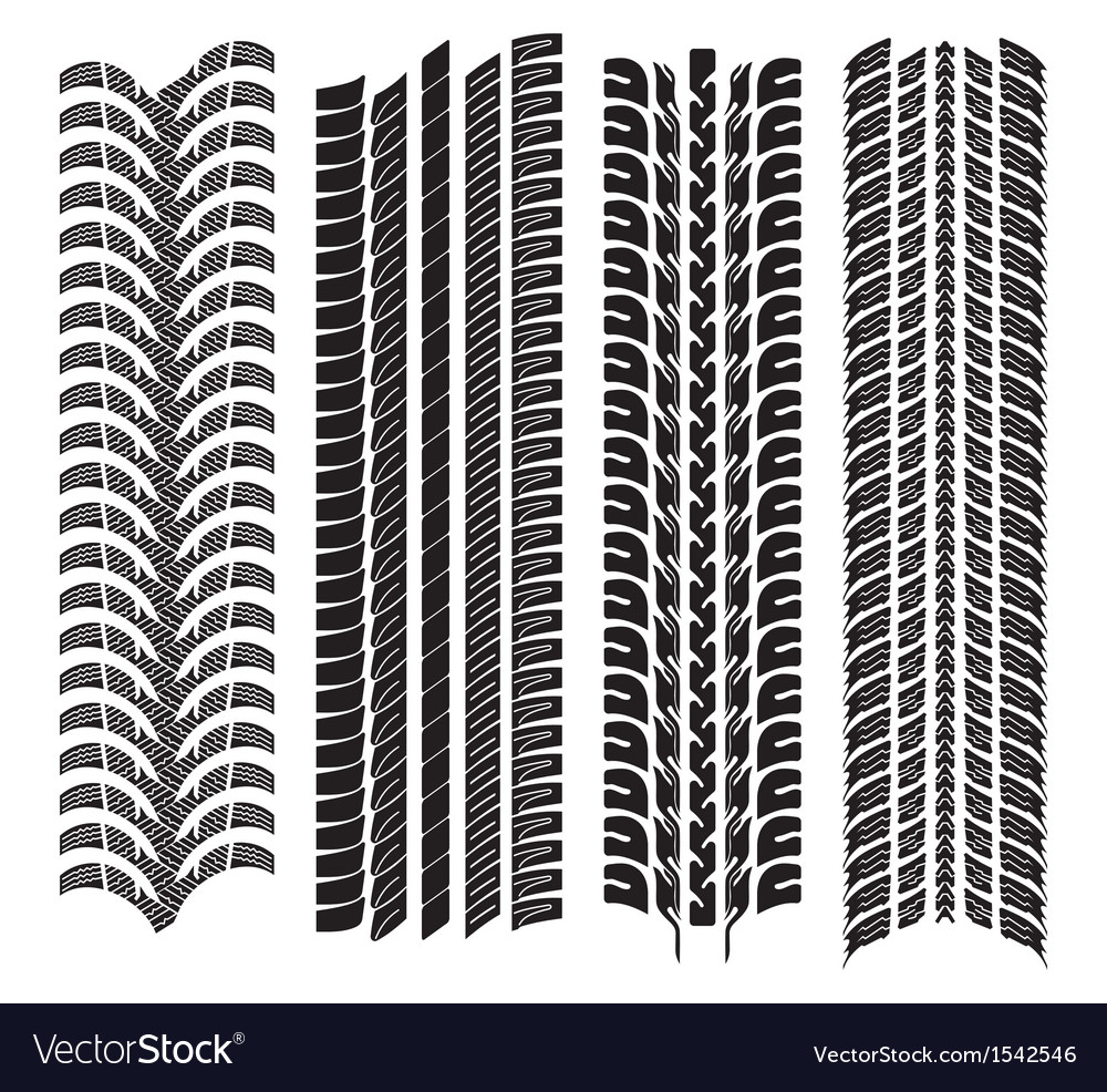 Various tyre treads