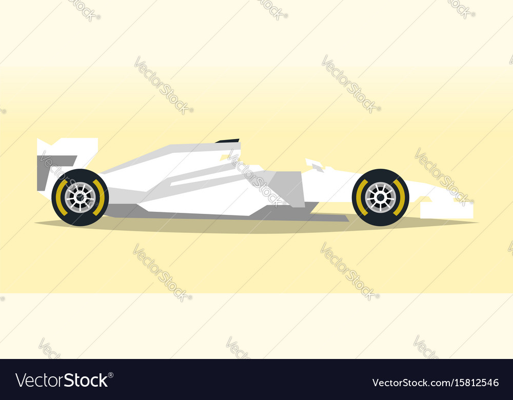 White racing bolid sports car quick transport