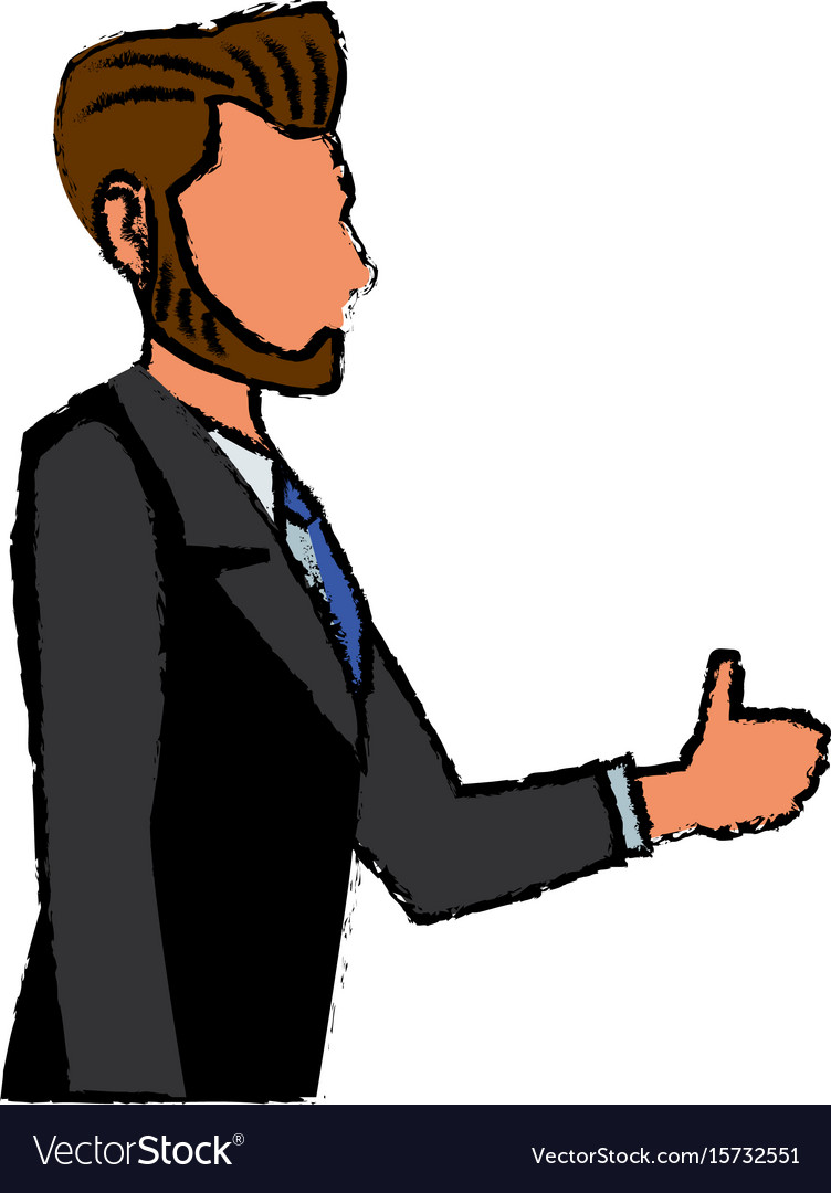 Business man cartoon standing people employee