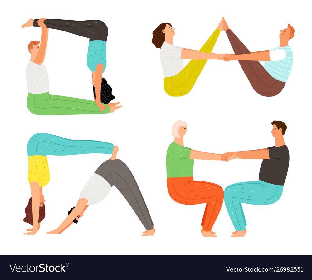 Couple yoga poses