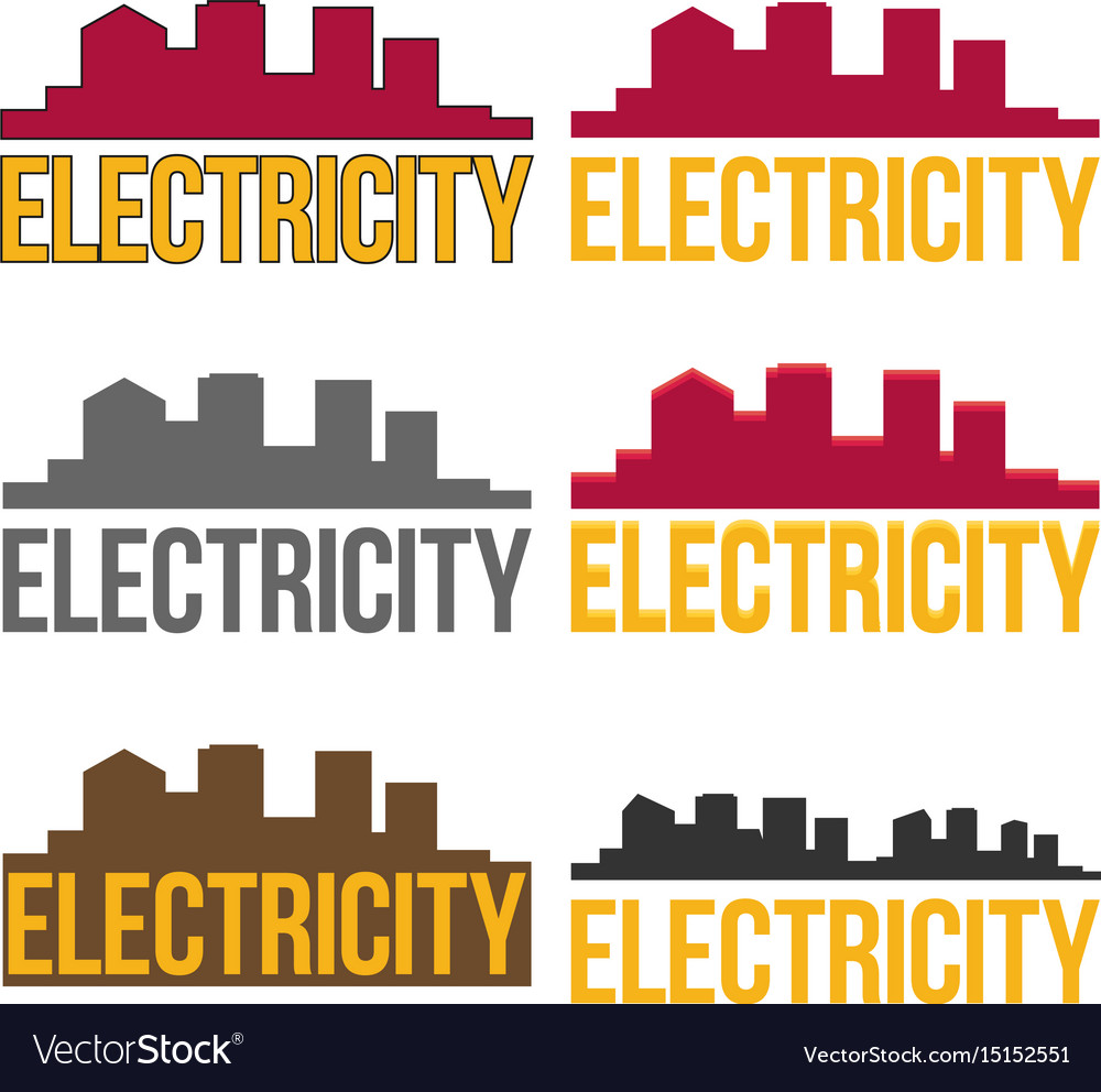 Electric logo in flat style
