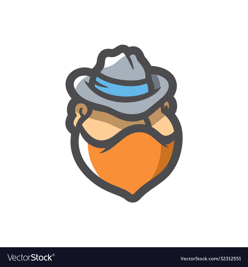 Masked criminal in hat cartoon