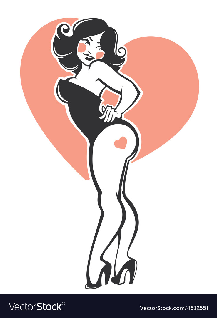 plus size pinup girl royalty free vector image