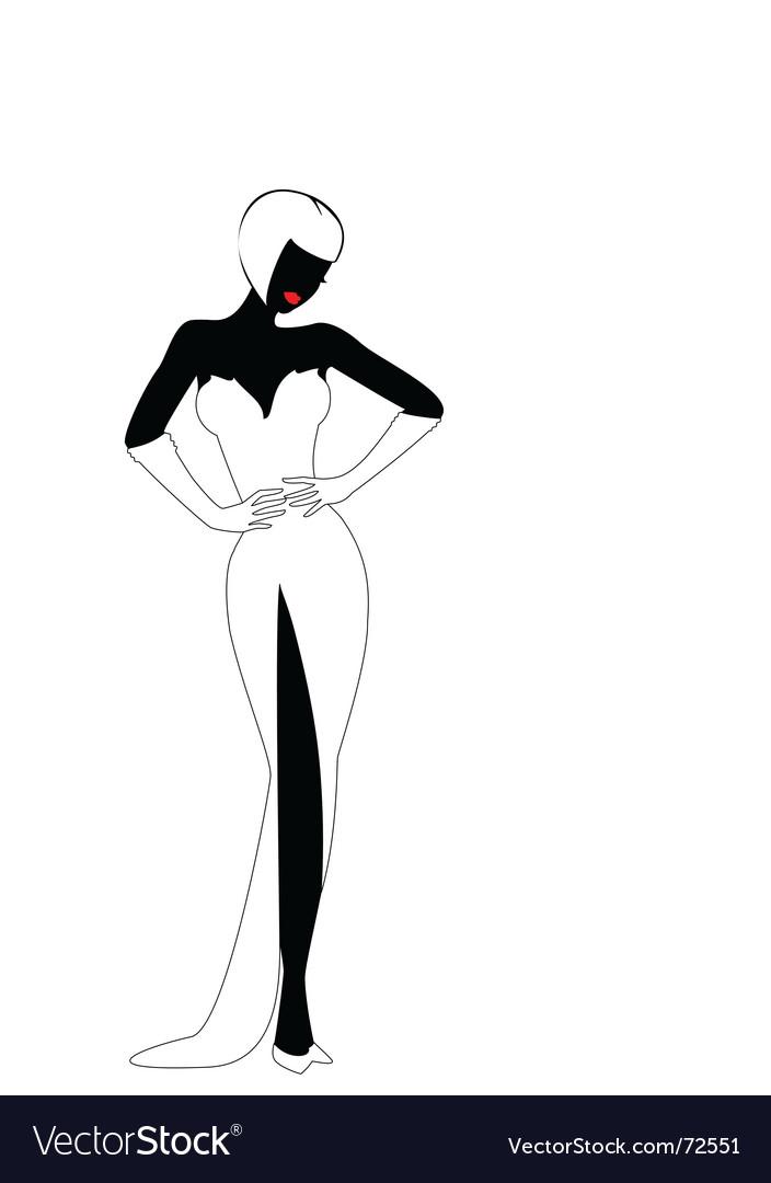sexy silhouette royalty free vector image vectorstock rh vectorstock com