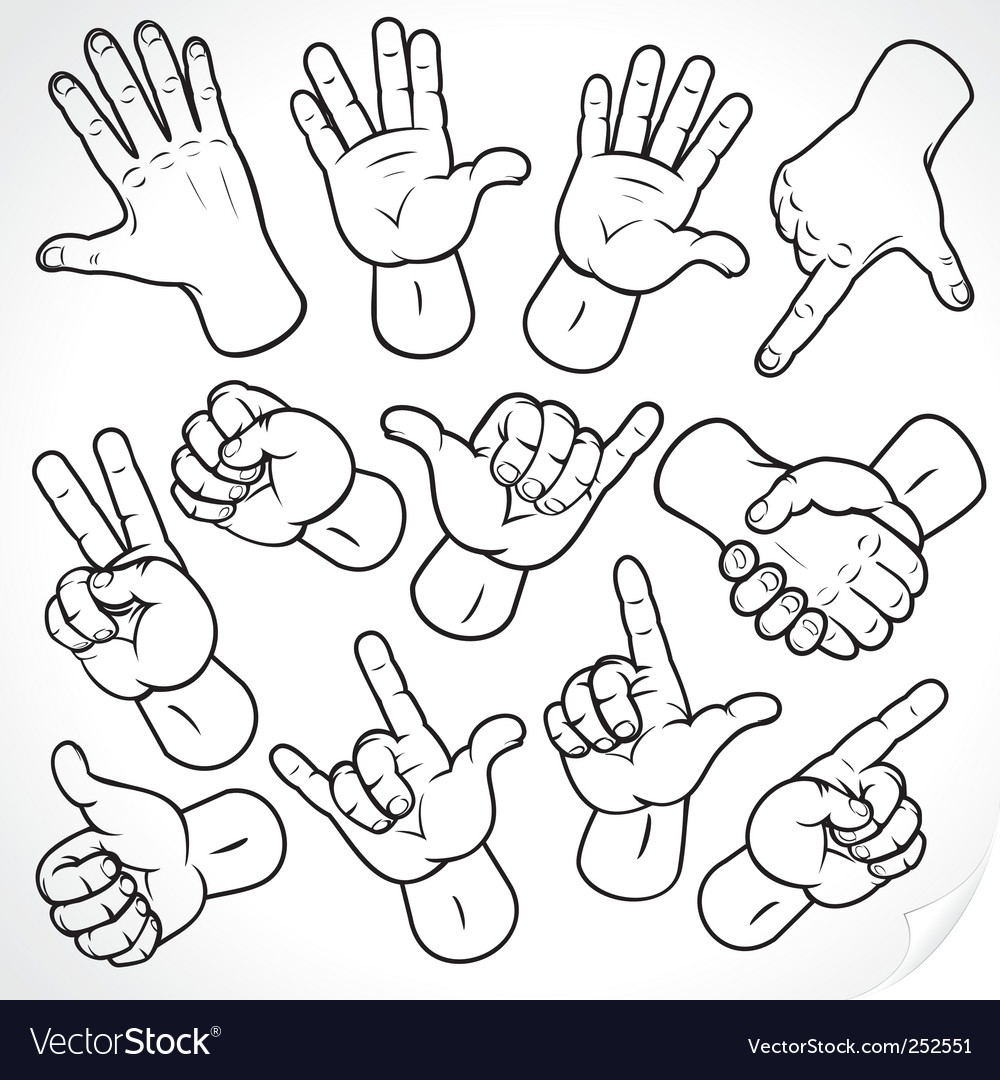 Sketching hands vector image