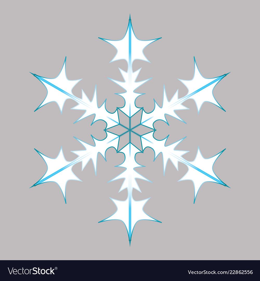 Blue-white snowflake