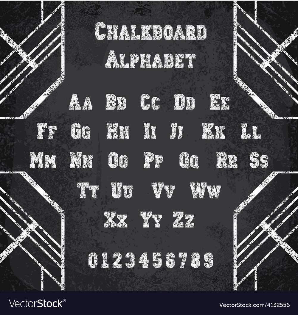 Chalked alphabet