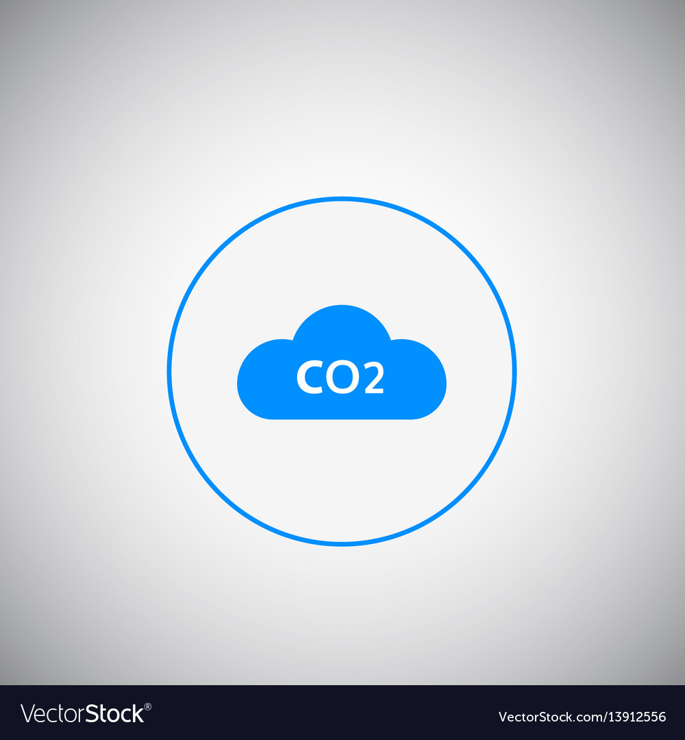 Co2 emissions icon c02 cloud