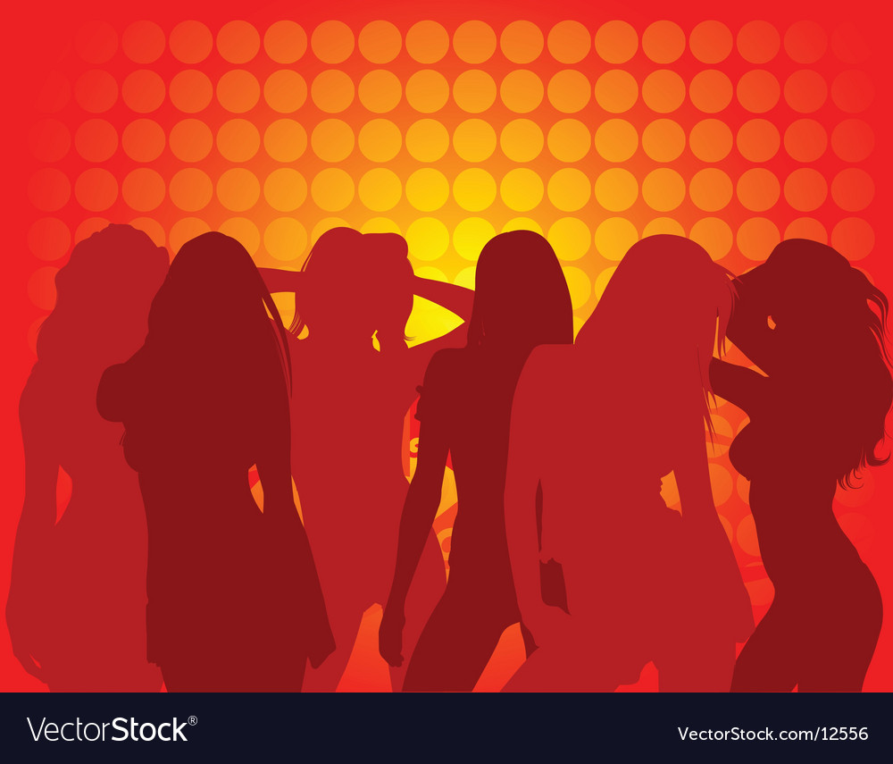 Dance club background vector image
