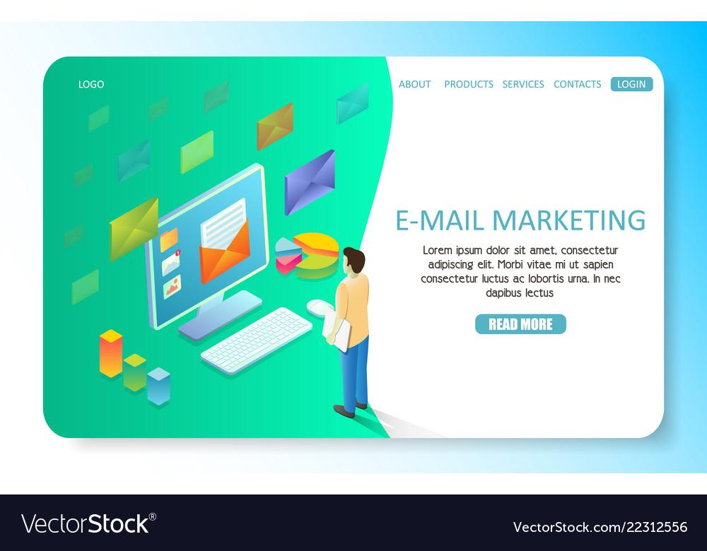 E-mail marketing landing page website