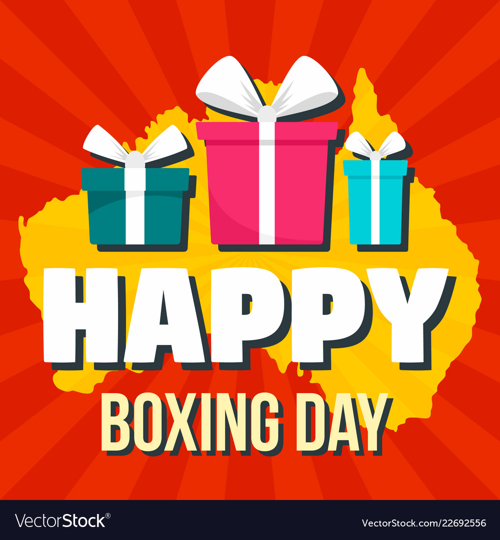 Happy boxing day concept background flat style