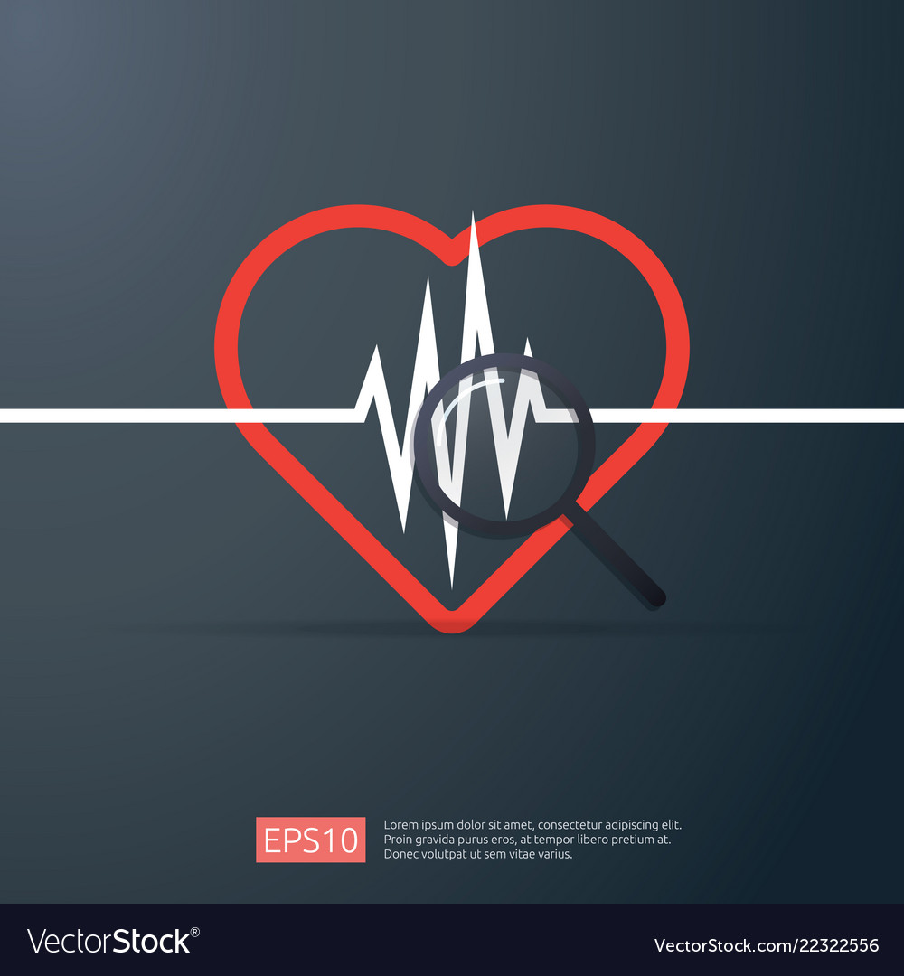 Heart cardiology heartbeat or beat pulse search