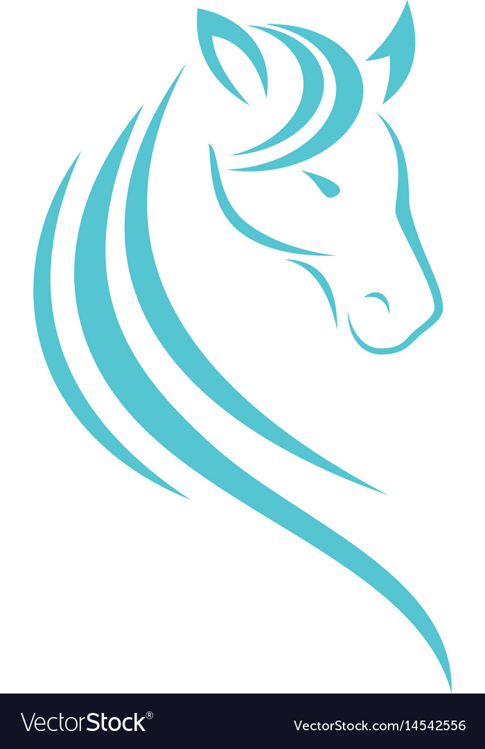 Horse head logo design