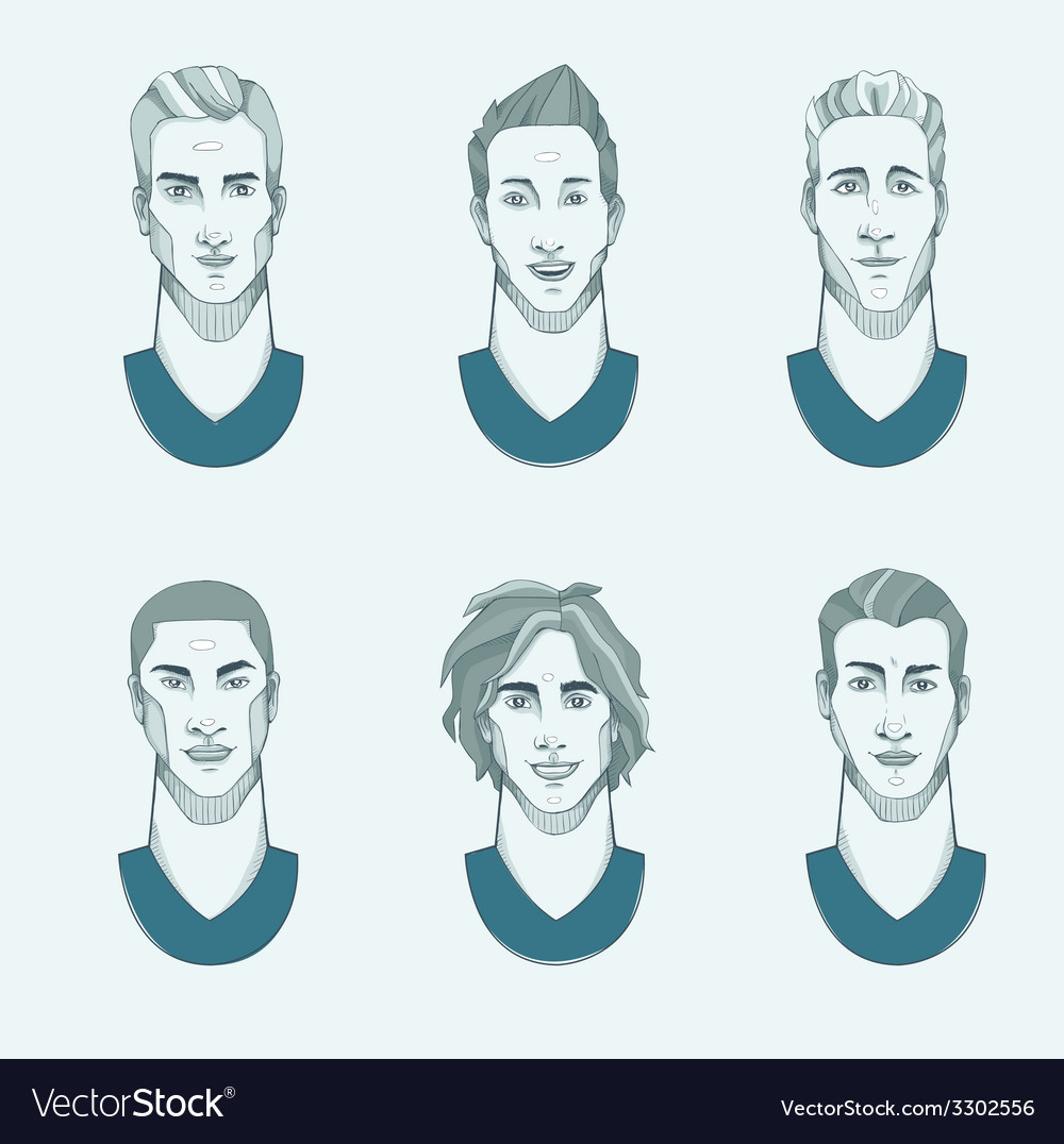 Six man with different races