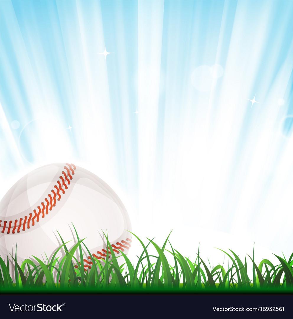 Baseball Background Royalty Free Vector Image Vectorstock