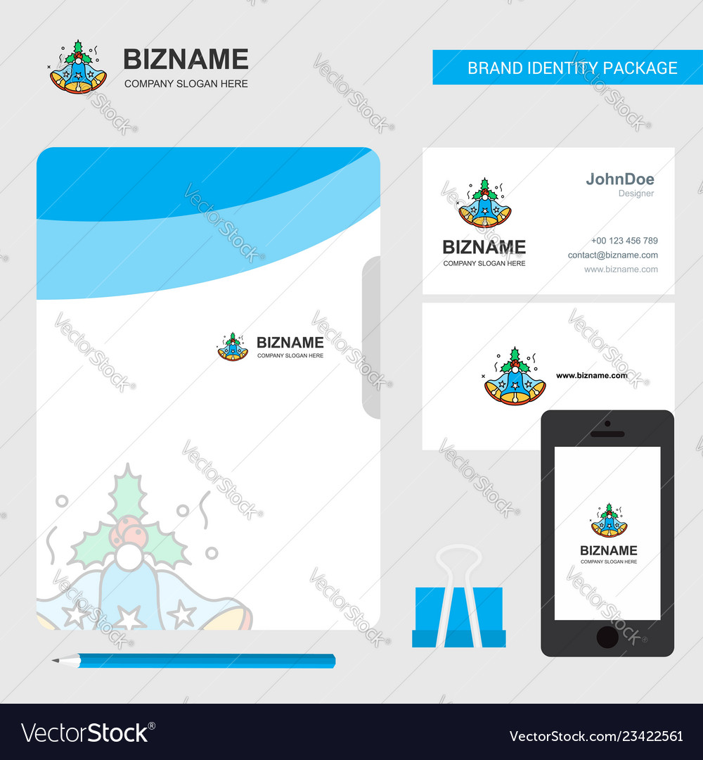 Bells business logo file cover visiting card and