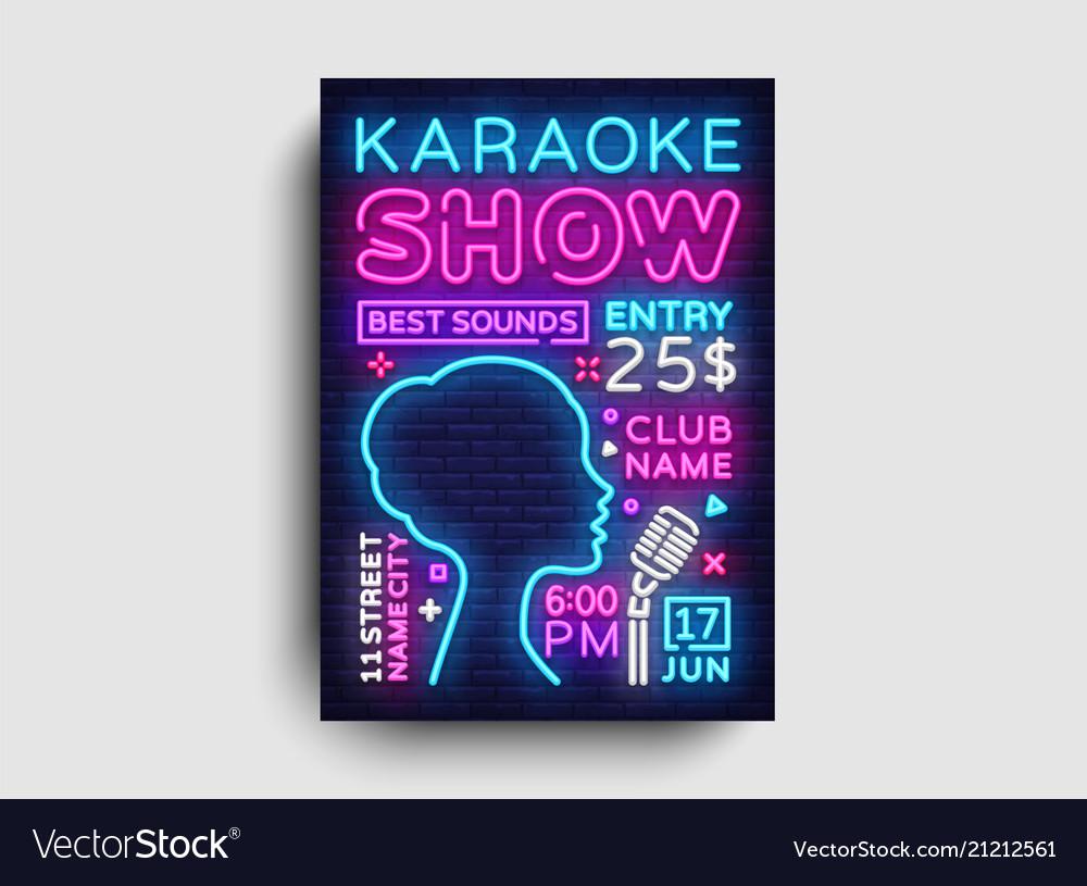 Karaoke design poster karaoke party design