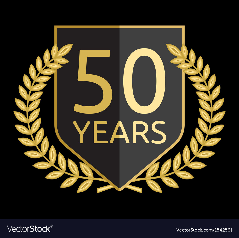 Laurel wreath 50 years
