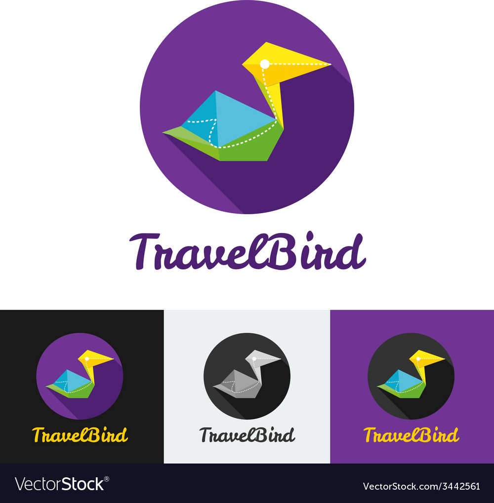 Modern flat creative travel company minimalistic vector image