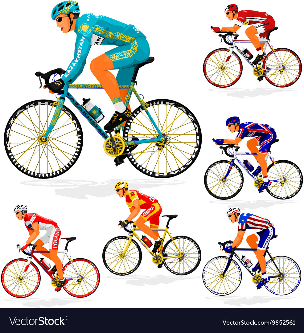 National cyclist 5 vector image