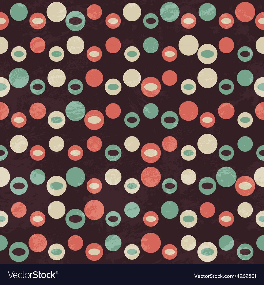 Retro brown circle seamless pattern