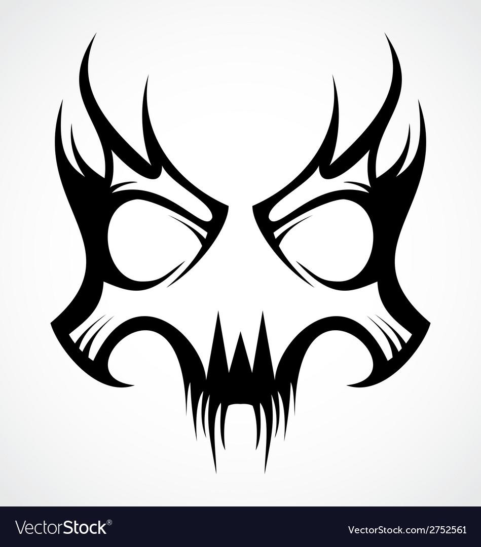 Skull Mask Tattoo Design