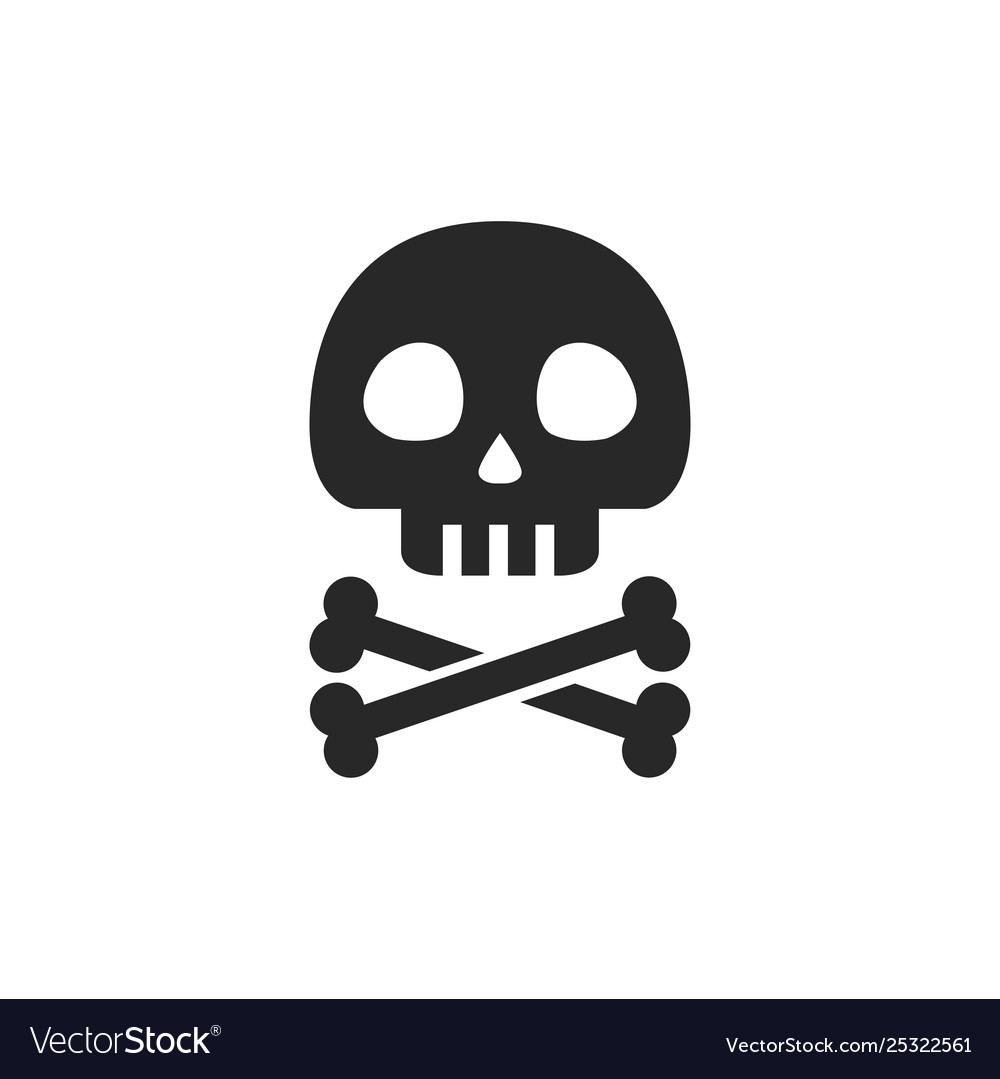 Skull with crossbones icon