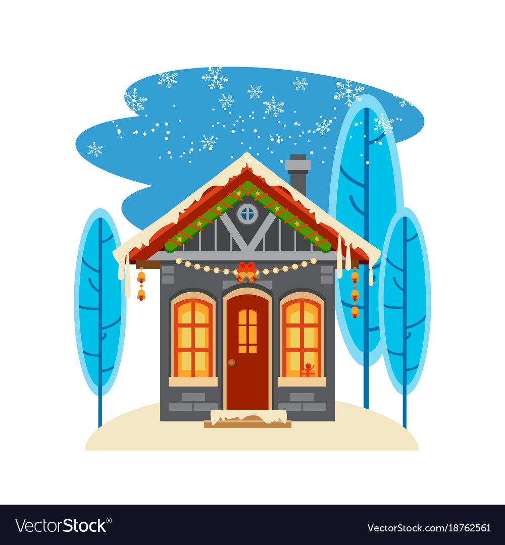Winter house collection one of set