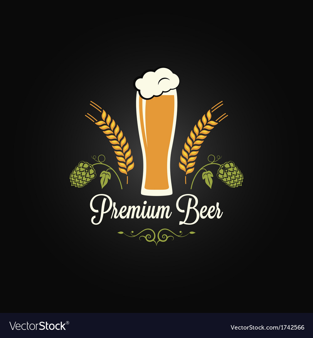 Beer glass hops design background