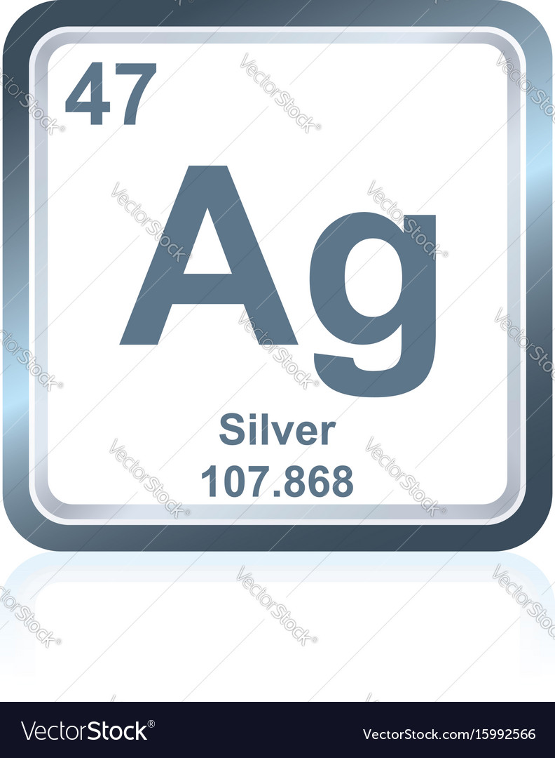 Chemical element silver from the periodic table vector image urtaz