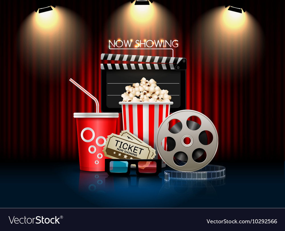 Cinema movie object vector image
