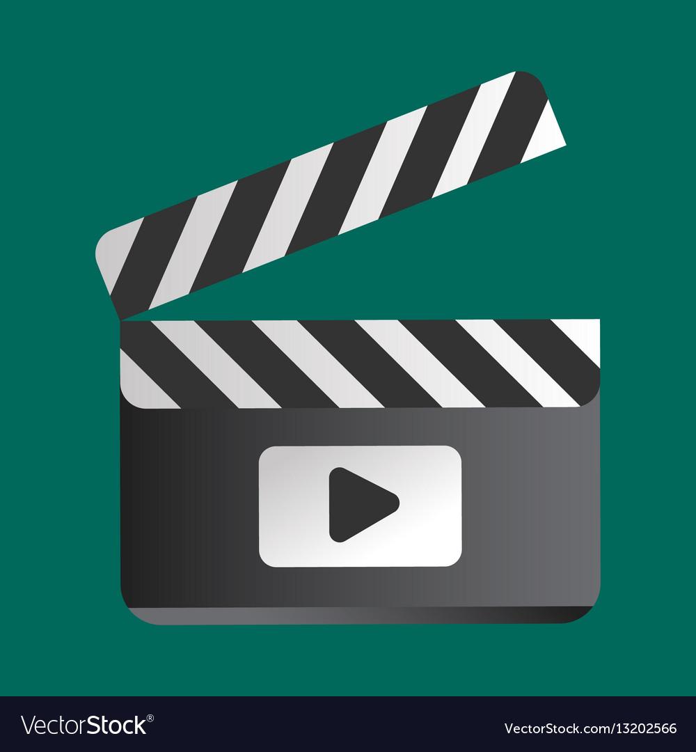 Clapper board vector image