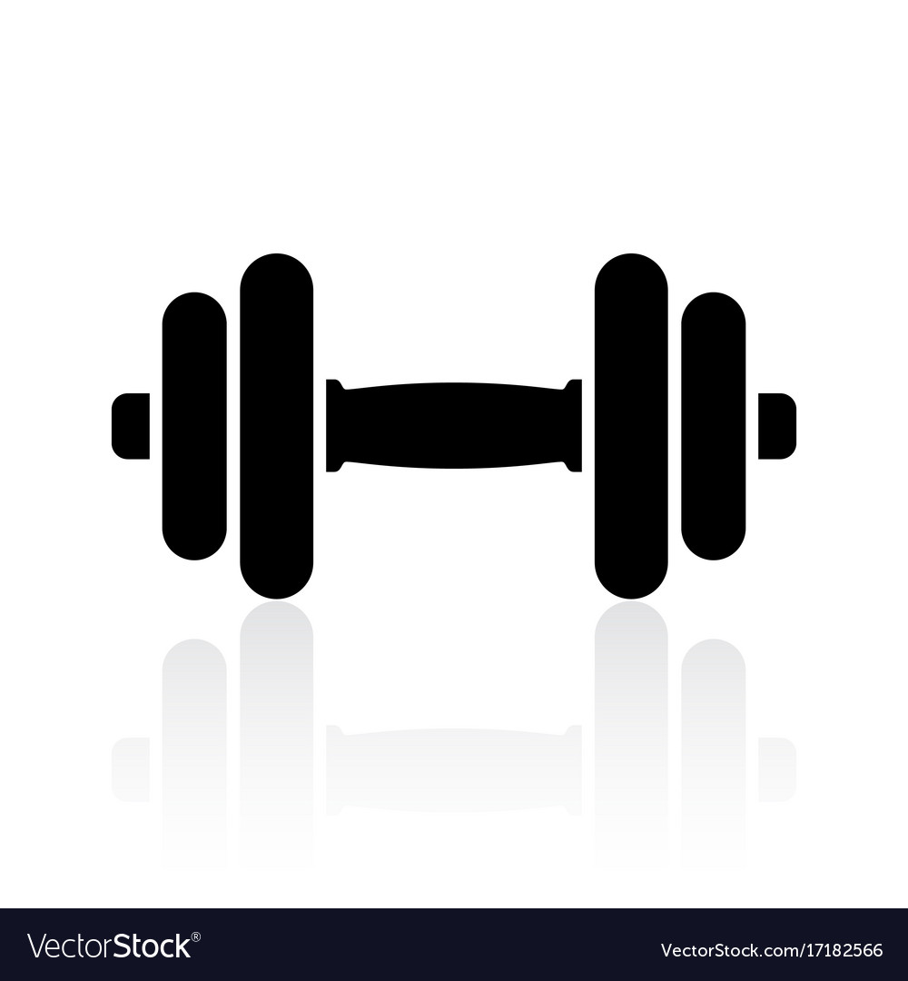 Dumbbell icon Royalty Free Vector Image - VectorStock