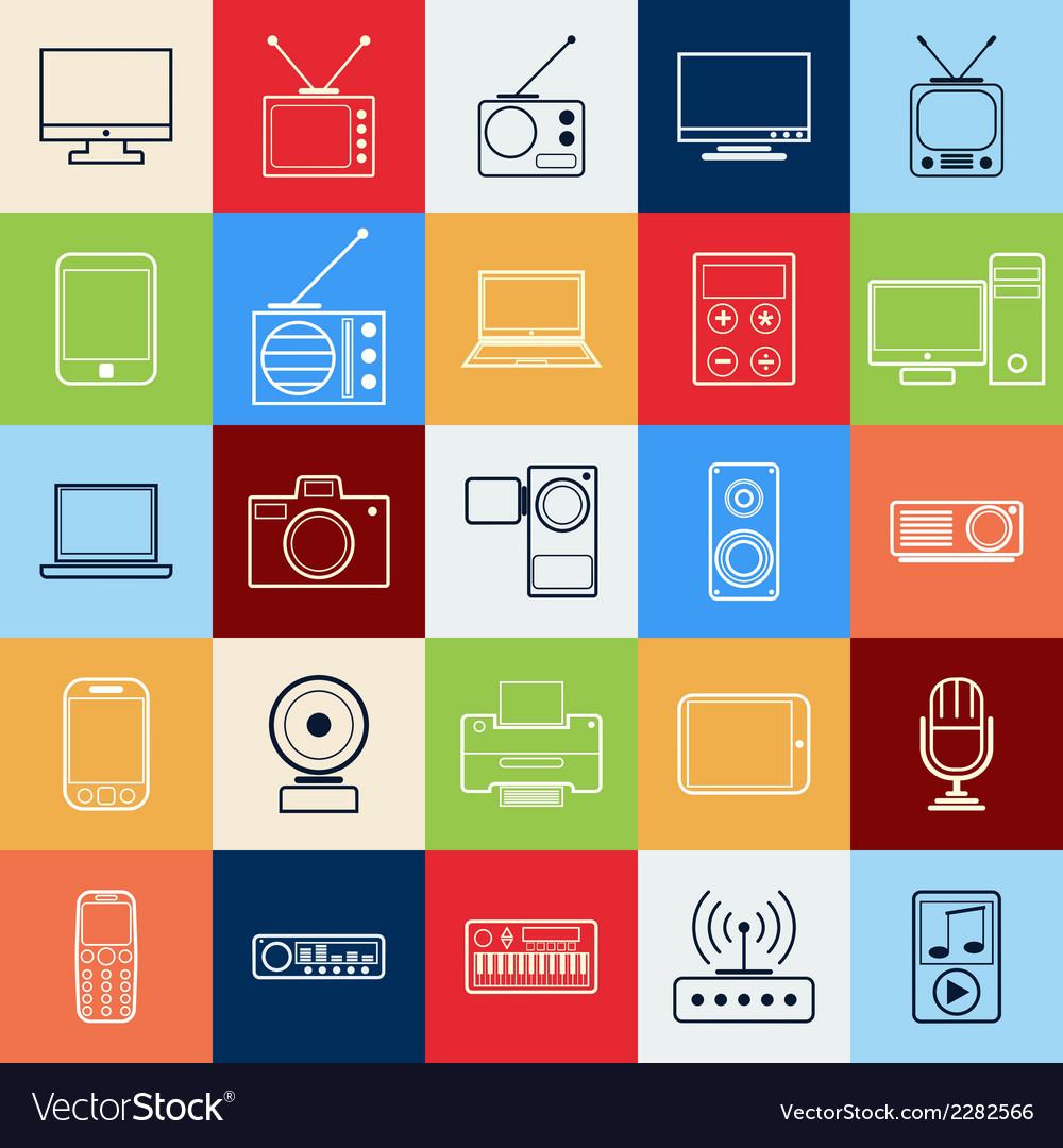 Electronic contour icons