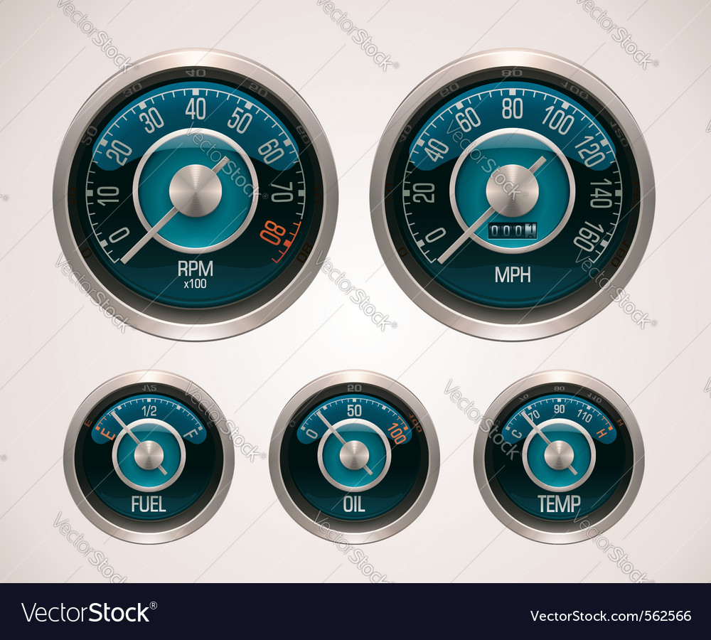 Retro car gauges