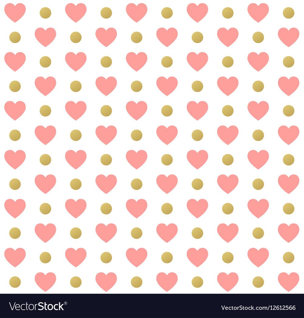 Seamless valentines day polka dot red pattern