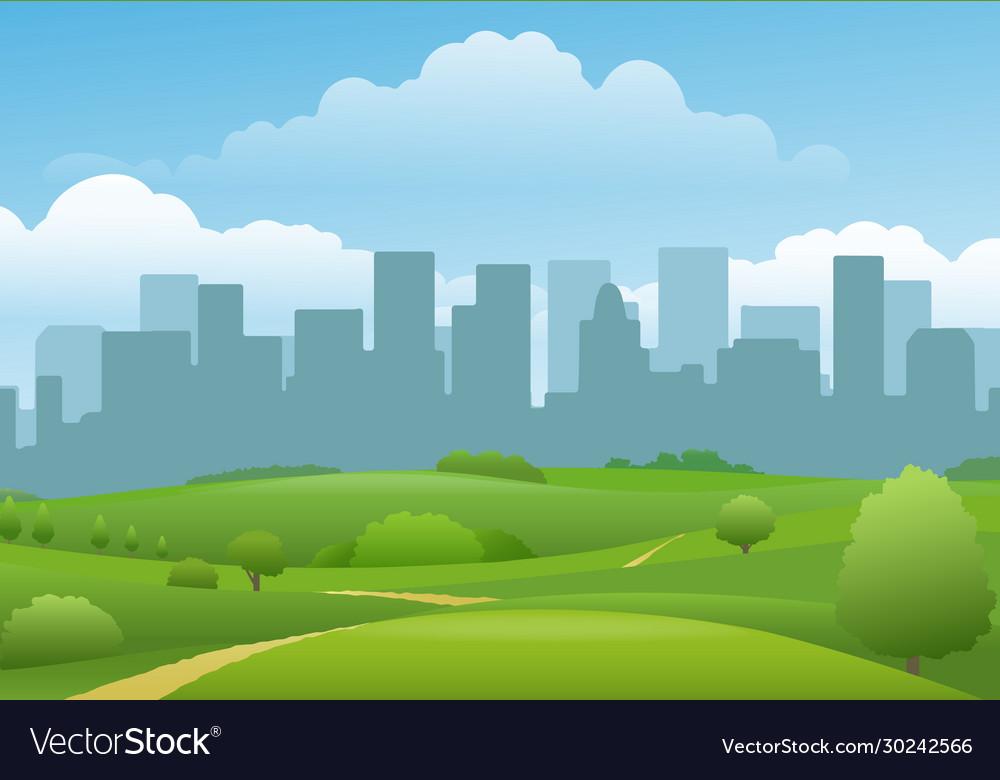 Summer city landview