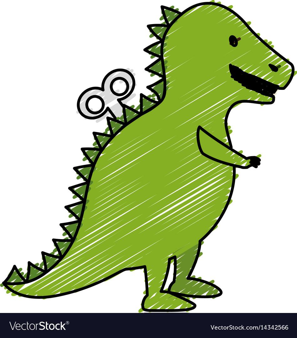 T-rex dinosaur toy icon